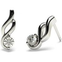 Designer Diamond EarringsWhite Gold with 0.20ct H-I I1
