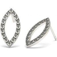 Designer Earrings Diamond Earrings White Gold with 0.30ct H-I I1