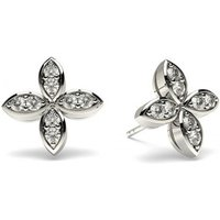 Delicate Diamond Earrings White Gold with 0.25ct H-I I1