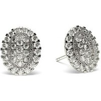 Cluster Diamond Earrings White Gold with 0.70ct H-I I1