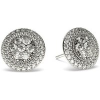 Cluster Diamond Earrings White Gold with 0.85ct H-I I1