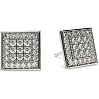 Cluster Diamond Earrings White Gold with 0.65ct H-I I1