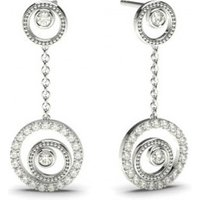 Delicate Diamond Earrings White Gold with 0.35ct H-I I1
