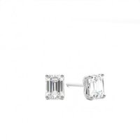 Stud Diamond Earrings White Gold with 1.00ct H SI1