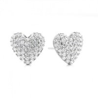 Cluster Diamond EarringsWhite Gold with 1.00ct H-I I1