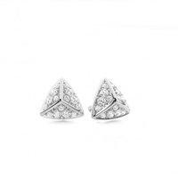 Designer Earrings Diamond Earrings White Gold with H-I I1