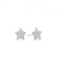 Cluster Diamond Earrings White Gold with 0.05ct H-I I1