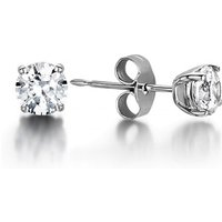 Stud Diamond Earrings White Gold with 0.80ct H I1