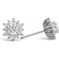 Cluster Diamond Earrings White Gold with 0.55ct H-I I1