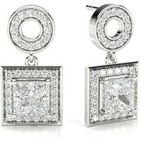 Halo Diamond Earrings White Gold with 0.80ct H I1