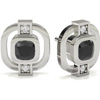 Black Diamond Designer Earrings in Full Bezel with 0.8000 ct. wt