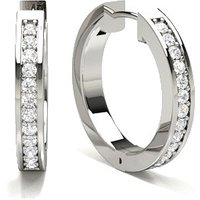 Diamond Hoop Earrings in Pave Setting with 0.2200 ct. wt