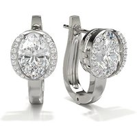 Diamond Earrings Silver with