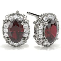 Ruby Halo Earring in 4 Prong Setting with 0.8000 ct. wt