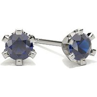 Blue Sapphire Stud Earring in 6 Prong Setting with 0.2000 ct. wt\n