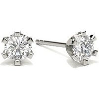 Round Diamond Stud Earring in 6 Prong Setting with 0.2000 ct. wt