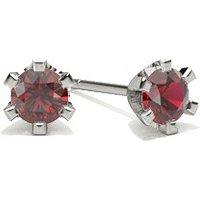 Ruby Stud Earring in 6 Prong Setting with 0.2000 ct. wt