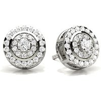 Diamond Earrings Silver with 0.25ct