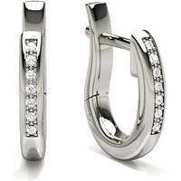 Diamond Hoop Earrings in Pave Setting with 0.0500 ct. wt