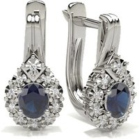 Blue Sapphire Hoop Earring in Prong Setting with 0.7000 ct. wt