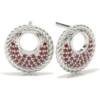 Ruby Designer Earrings in Pave Setting with 0.1700 ct. wt