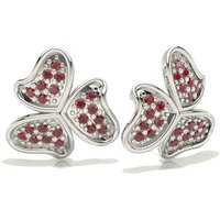 Ruby Designer Earrings in Pave Setting with 0.1600 ct. wt