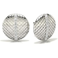 Diamond Designer Earrings in Pave Setting with 0.0500 ct. wt