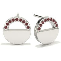 Ruby Designer Earrings in Pave Setting with 0.0500 ct. wt