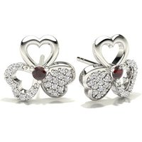 Diamond Earrings Silver with