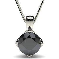 Black Diamond Pendant Necklace White Gold with 0.50ct