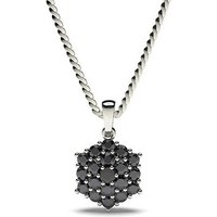 BlackDiamond Pendant NecklaceWhite Gold with 0.30ct