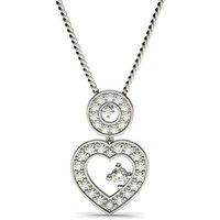 Drop Diamond Pendant Necklace White Gold with 0.45ct H-I I1