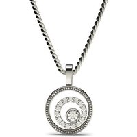 Delicate Diamond Pendant Necklace White Gold with 0.15ct H-I I1