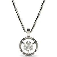 Delicate Diamond Pendant Necklace White Gold with 0.20ct H-I I1
