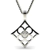 Delicate Diamond Pendant NecklaceWhite Gold with 0.15ct H-I I1