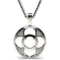 Delicate Diamond Pendant Necklace White Gold with 0.05ct H-I I1