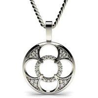Delicate Diamond Pendant Necklace White Gold with 0.10ct H-I I1