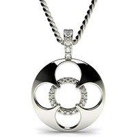 Delicate Diamond Pendant NecklaceWhite Gold with 0.10ct H-I I1
