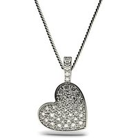 Delicate Diamond Pendant Necklace White Gold with H-I I1