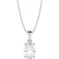 Solitaire Diamond Pendant Necklace White Gold with 1.20ct H SI1