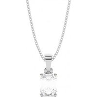 Solitaire Diamond Pendant NecklaceWhite Gold with 1.00ct H SI1