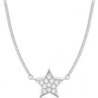 Designer Pendants Diamond Pendant Necklace White Gold with H-I I1