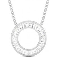 Circle Diamond Pendant NecklaceWhite Gold with 1.00ct H-I SI