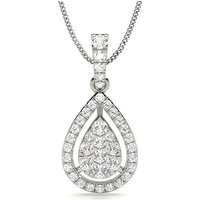 Diamond Necklace Silver with 0.35ct