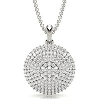 Diamond Cluster Pendant in Prong Setting with \n0.65 ct. Diamond H-I I1