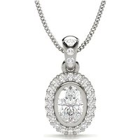 Halo Pendant in Full Bezel Setting with 0.40 ct. Diamond H SI1