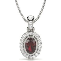 Diamond Necklace Silver with