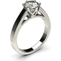 Solitaire Engagement Ring inWhite Gold with 0.80ct Diamond H I1