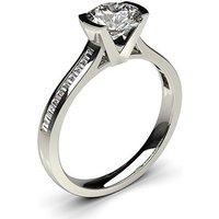 Semi Bezel Setting Medium Side Stone Engagement Ring