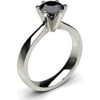 6 Prong Setting Large Engagement Black Diamond Ring